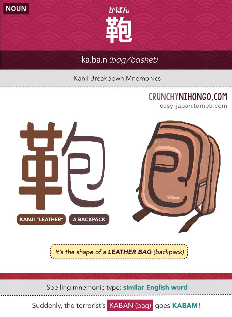 n5-vocabulary-kaban-bag