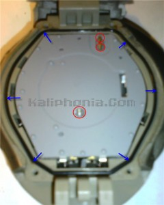 the watch without the backplate