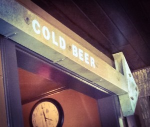 Cold Beer sign at Blowing Rock Ale House, NC