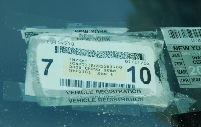 Official Parking Placards Pose Threat. Fix Your Not Sticking Ny Registration Sticker With Regframe