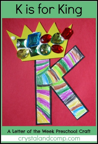 Alphabet Activities for Preschoolers: K is for King