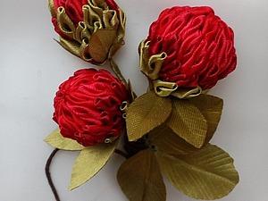 Делаем цветок в технике канзаши для бутоньерки