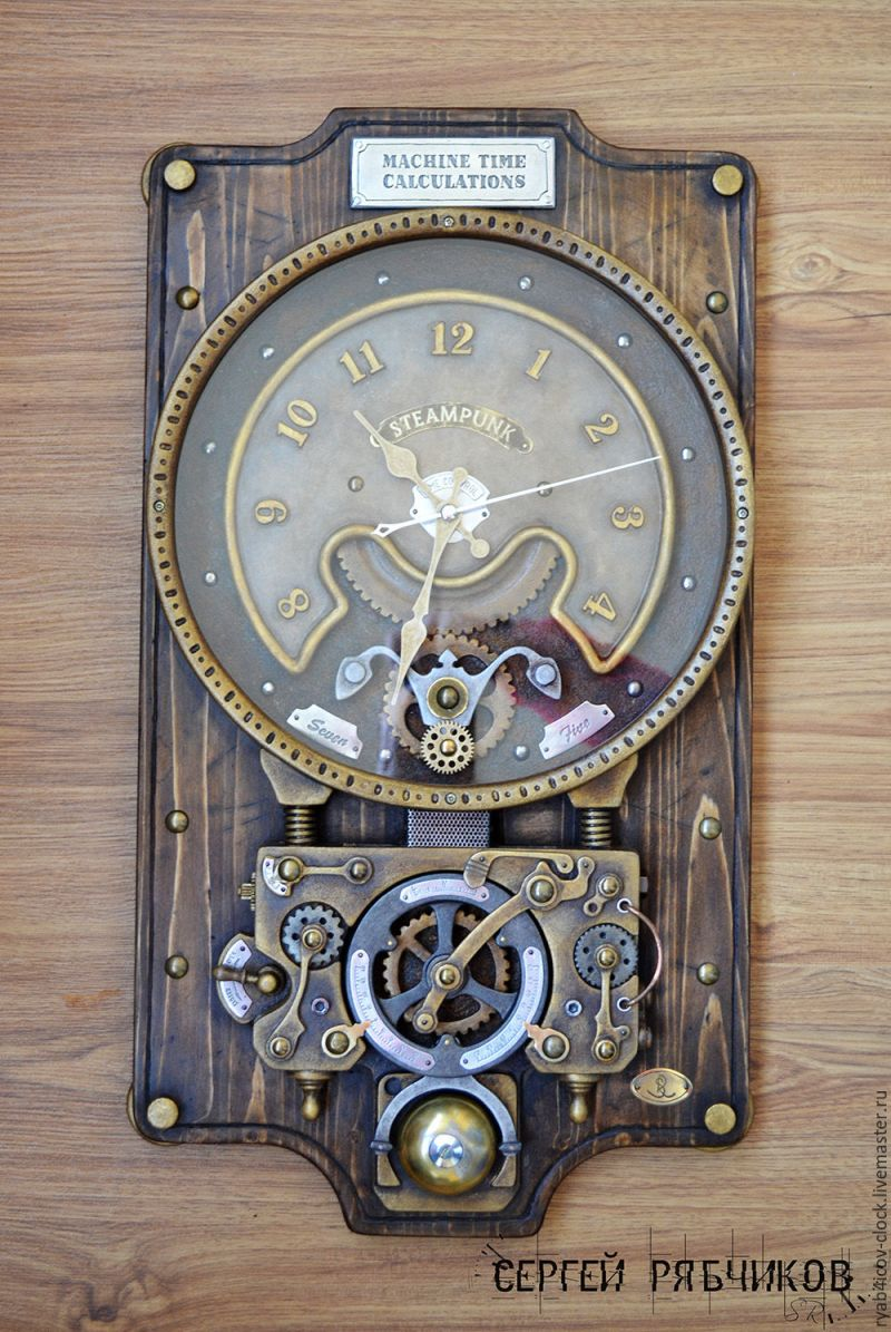 Large Of Steampunk Wall Clock
