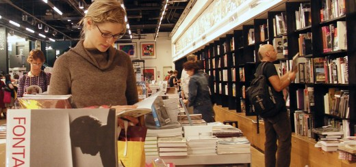 Patrons browse through materials at a bookstore in 2005. Traditional learning is evolving and bookstores are already adapting to meet the changing technological face of education. — Photo by Brendan Gogarty