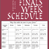 Finals Week Schedule