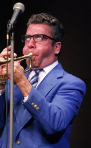 Brad Black, of Dallas, performs a trumpet solo during the Glenn Miller Orchestra concert Thursday, March 16. —photo by Brianna Wilson