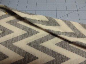 Matching chevrons in rayon knit fabric - csews.com