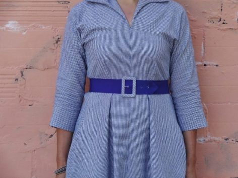 Winifred Dress - Bluegingerdoll Patterns - front view close up - csews.com