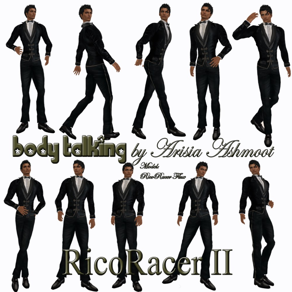 New Pose Sets for Male Models From Body Talking by Arisia Ashmoot (2/3)