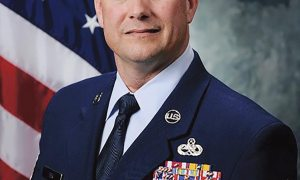 Courtesy photo Chief Master Sgt. Jason Tiek, 50th Space Wing command chief, looks forward to utilizing his past experiences and mentorships to help forge a positive relationship with Team 5-0 in his new role at Schriever.