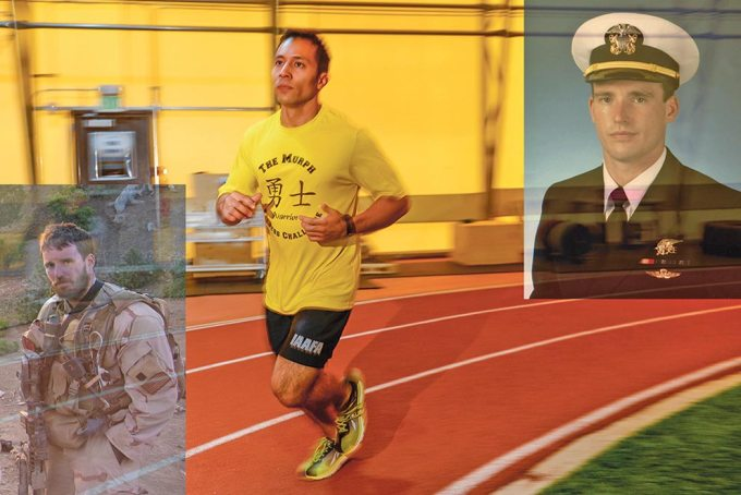 U.S. Air Force photo illustration/Brian Hagberg Team Schriever members will participate in The Murph fitness challenge May 19, 2017. Navy Lt. Michael Murphy created the challenge, a 1-mile run, 100 pull-ups, 200 push-ups and 300 body squats followed by another 1-mile run. Murphy was killed in action June 28, 2005, while serving in Afghanistan. Schriever hosts one of many Murph events worldwide near Memorial Day in his honor.