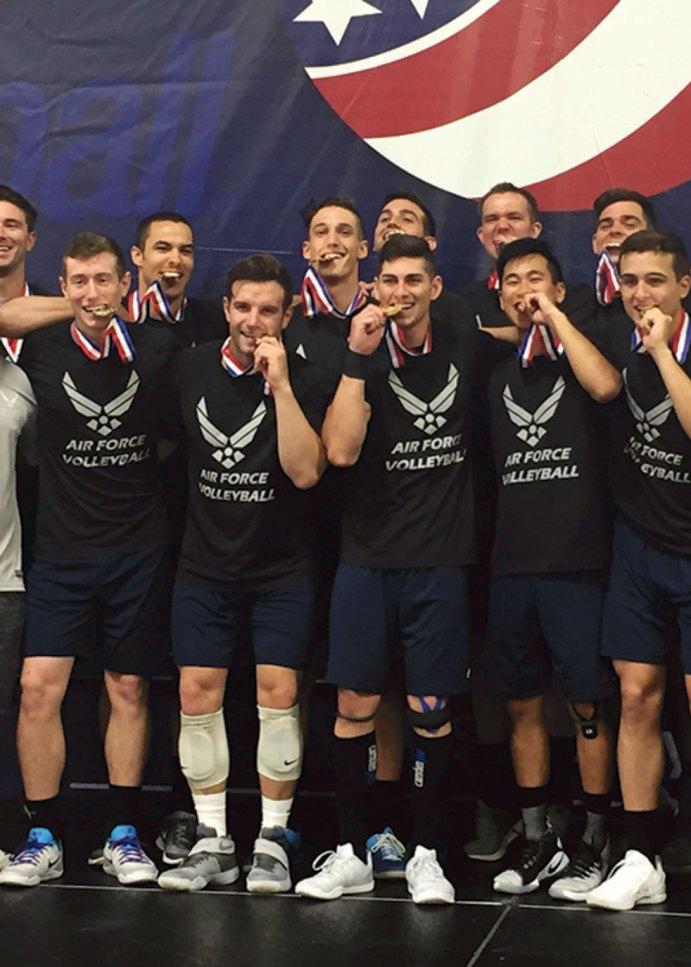 Schriever Airmen, teammates, earn AFVB gold