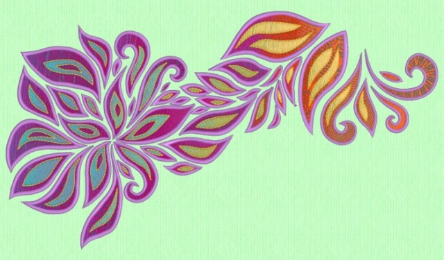 Richardson, Trina - Embroidery Software Revealed - Gradient Flower Magenta Tones