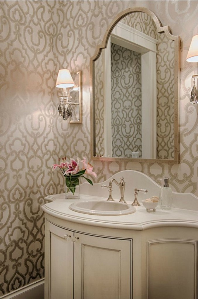 Beautiful powder rooms connecticut in style for Gorgeous powder rooms