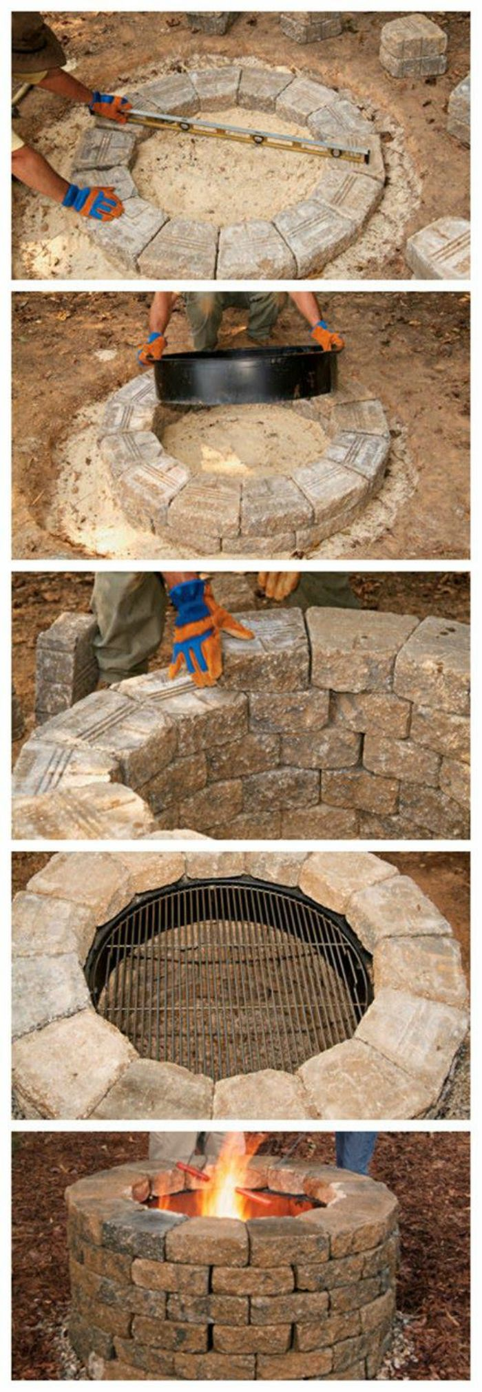 Diy fire pit ideas connecticut in style for Materials needed to build a fire pit