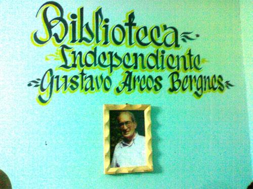 Biblioteca en homenaje a Gustavo Arcos Bergnes