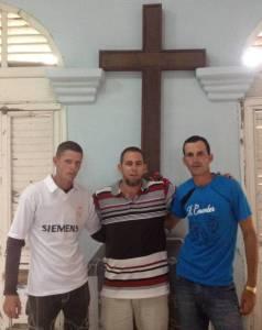 con Osleidy y Maikel