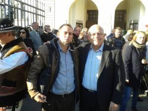 Con mi hermano en Cristo Dagoberto Valdes en los homenajes a Jerzy Popieluszko