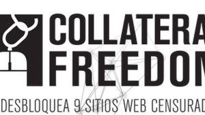 Imagen de la campaña Operación Collateral Freedom contra la censura de sitios en países Enemigos de Internet. (RSF)