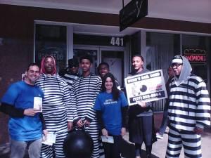 con algunos de los jóvenes entre quienes compartí la Declaración Universal en San Petesburgo, Florida