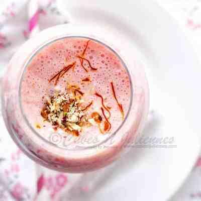 Strawberry Saffron Lassi