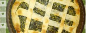 Crostata salata con le cime di rapa
