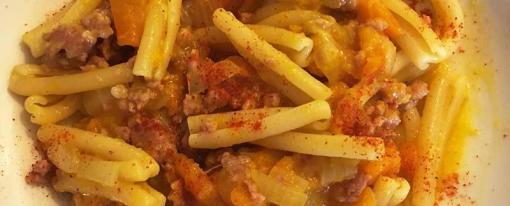 Caserecce con zucca e salsiccia