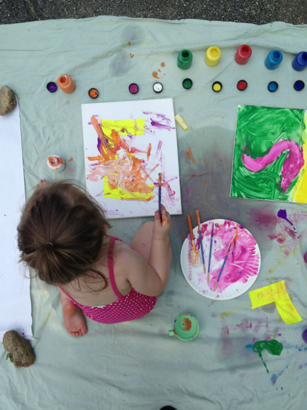 Kids craft: canvas wall art