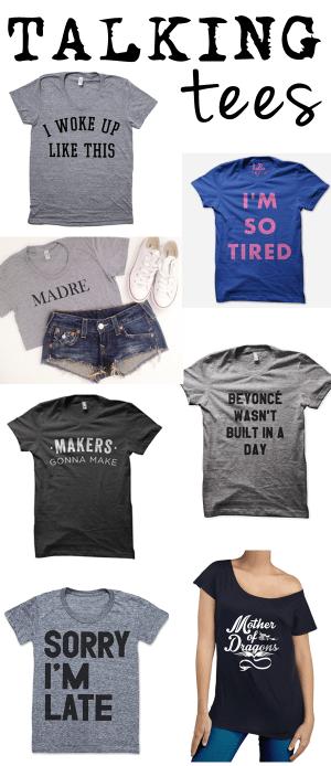graphic tshirts: talking tees