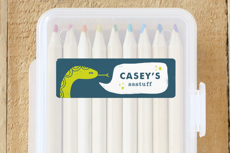 kids personalized name labels | slithering snake