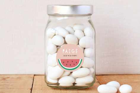 kids personalized name labels | watermelon