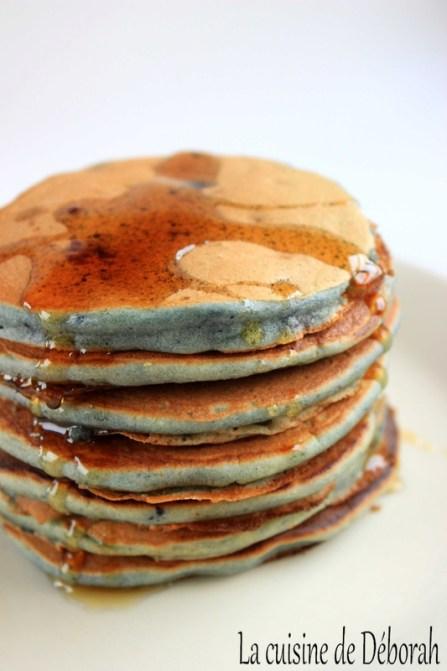 Pancakes amandes, myrtilles et zestes de bergamote - La cuisine de Déborah