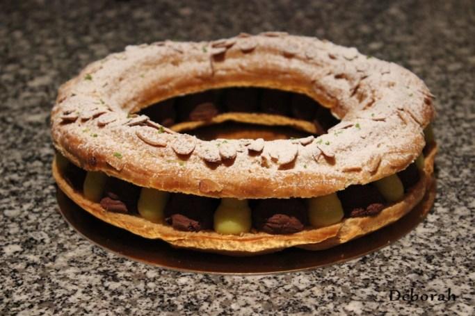 Paris-Brest chocolat, gingembre confit et citron vert  - Cuisine de Deborah
