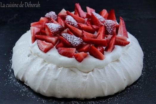 Pavlova aux fraises   Cuisine de Deborah