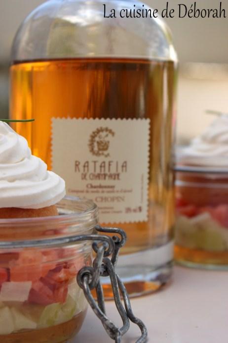 Baba au Ratafia sur lit de poireaux et de saumon   La cuisine de deborah