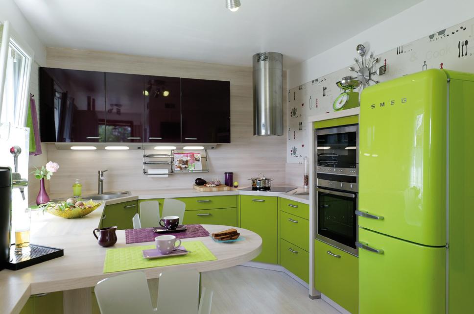 Meuble Cuisine Vert Anis. Carrelage Cuisine Vert Salle De Bains ...