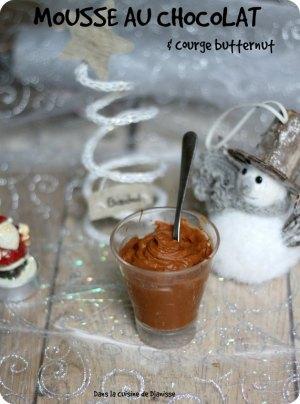 Vegan : mousse chocolat et butternut