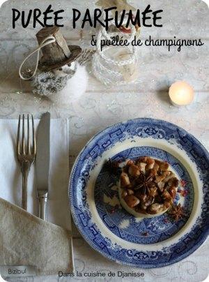 Purée parfumée et poêlée de champignons