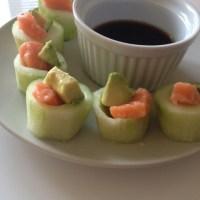 Salmon Avocado Cucumber Appy