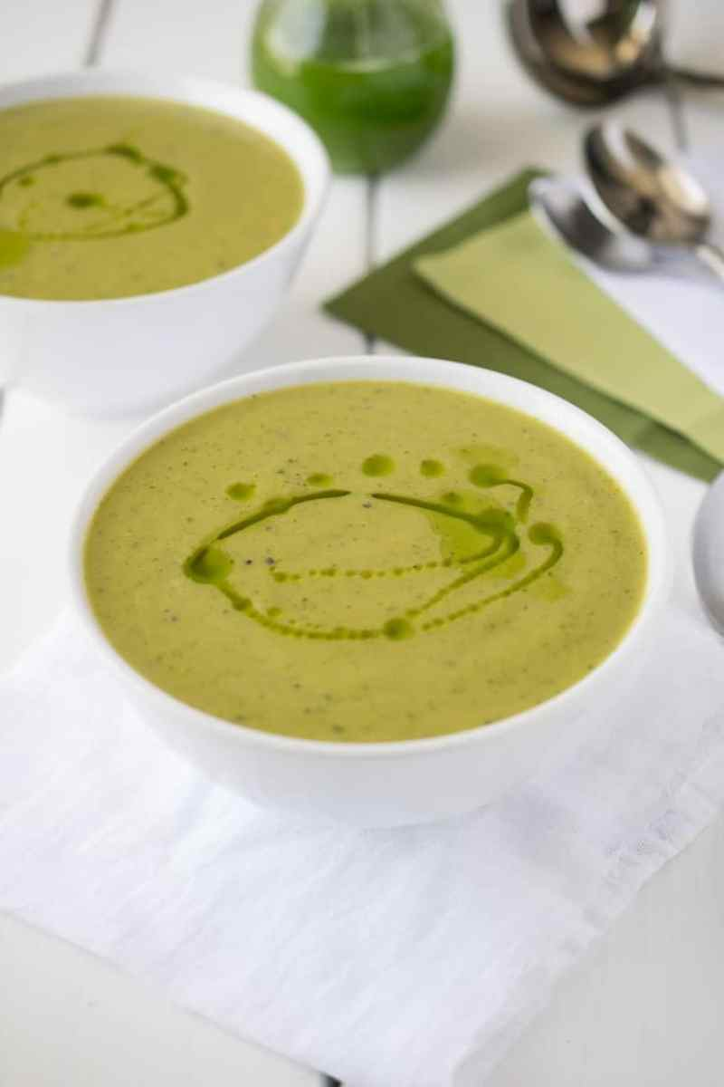 Zucchini and sweet potato soup