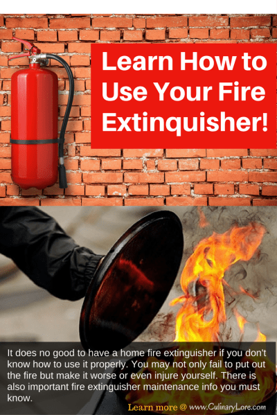 Know How To Use Your Home Fire Extinguisher!
