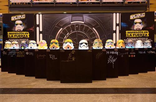 Cascos intervenidos - Evento Star Wars - Abasto