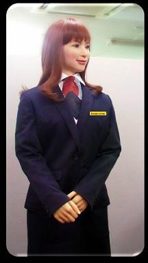 Una de las simpáticas recepcionistas.