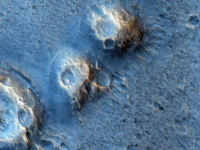 En la película, el astronauta Mark Watney pasa la mayor parte del tiempo en la zona sur de Acidalia Planitia.