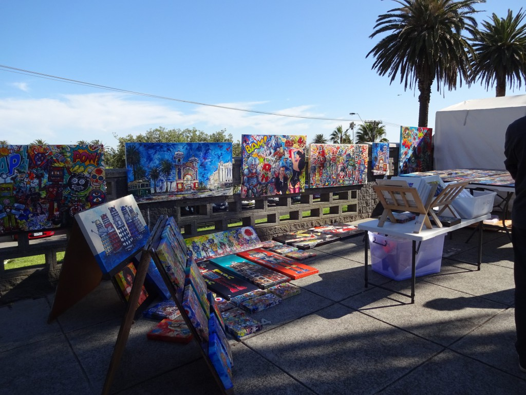Art at the Sunday Market in St Kilda