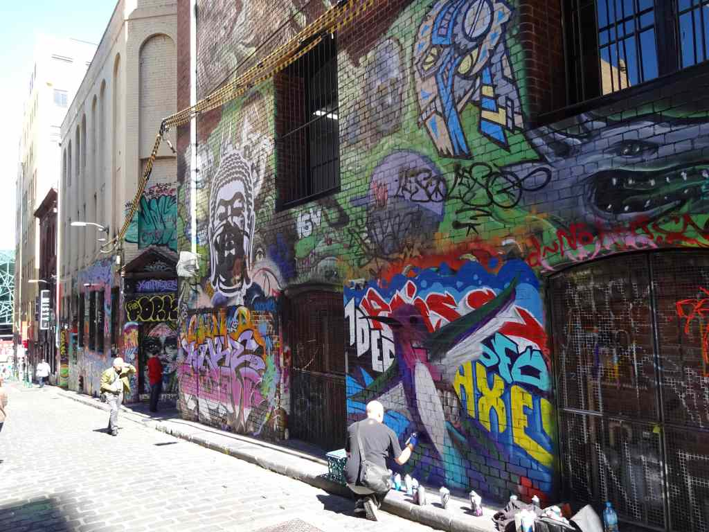 Artist at Hosier Lane, Melbourne