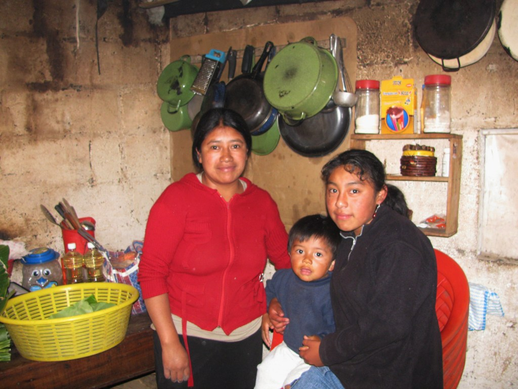 The kitchen of the humble Xela home, Guatemala