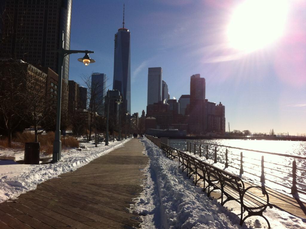 Hudson River in January