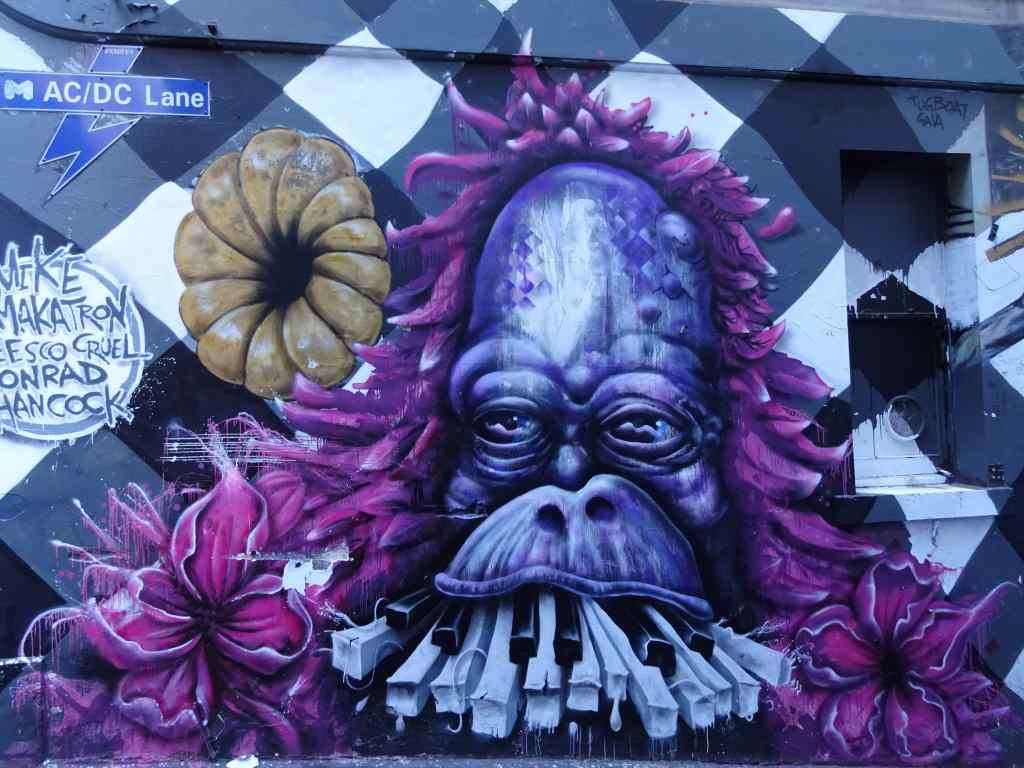 Street Art in AC/DC Lane, Arts Precinct, Melbourne