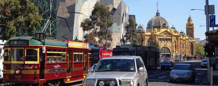 Two days of shuttling through the city of Melbourne